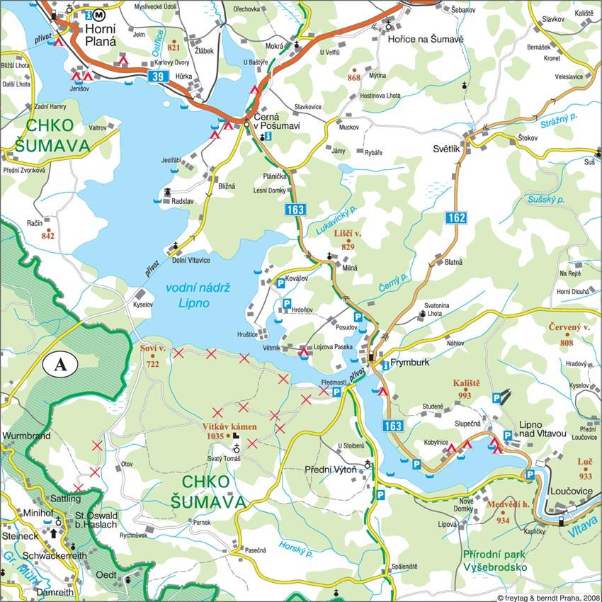 Mapa Mapa Lipno Nad Vltavou